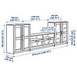БРИМНЭС, Шкаф для ТВ, комбин/стеклян дверцы, фото 4
