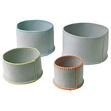 КНАТТИНГ Набор корзин,4 штуки, светло-серый