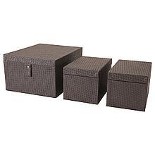 БАТТИНГ Набор коробок, 3 шт., черный