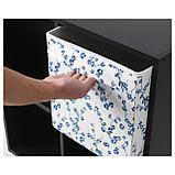 ДРЁНА Коробка, белый, синий с цветочным орнаментом, фото 2