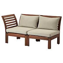ЭПЛАРО 2-местный модульный диван, садовый, коричневый, Холло бежевый