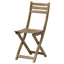 АСКХОЛЬМЕН Садовый стул, складной светло-коричневая морилка светло-коричневый серо-коричневая морилка