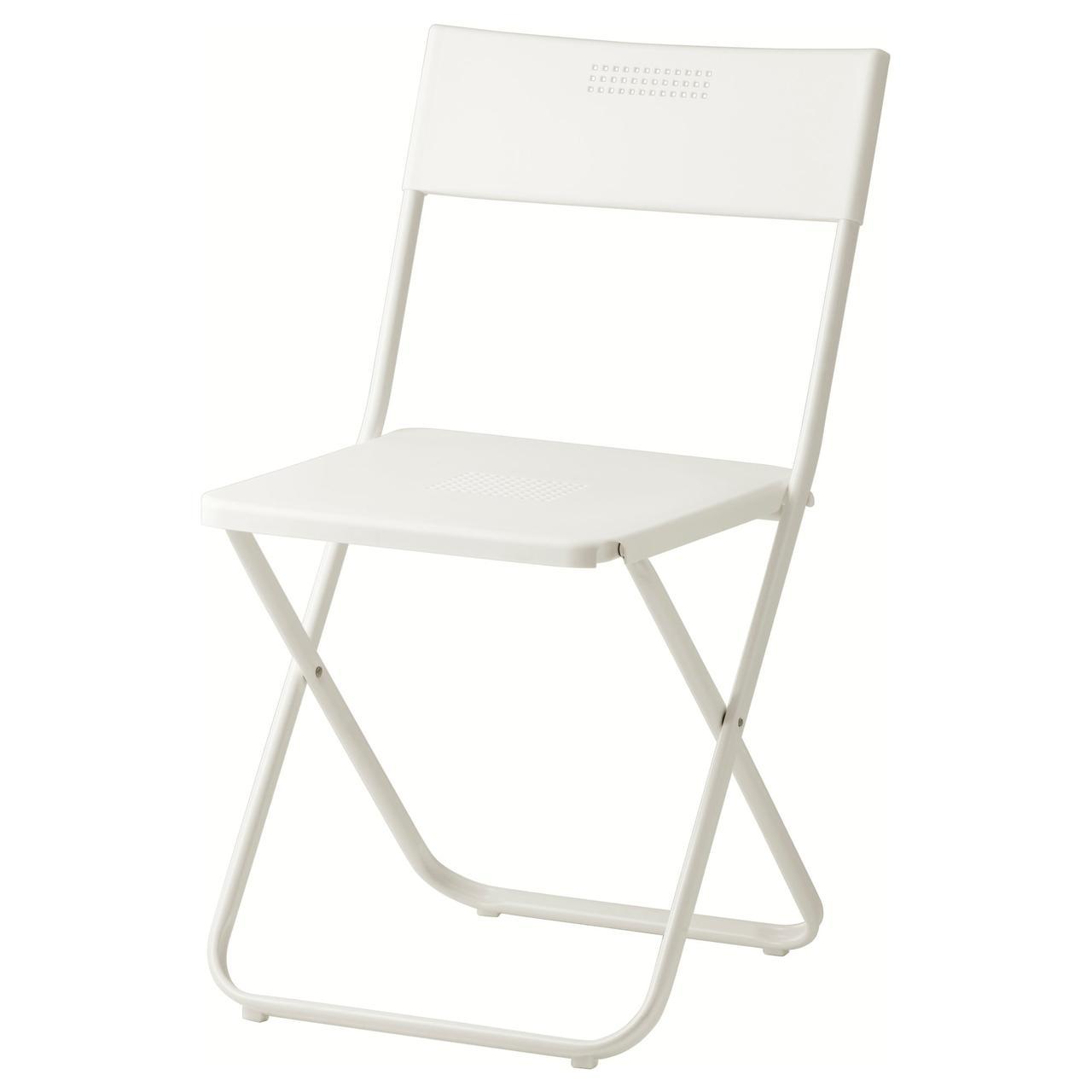 ФЕЙЯН Садовый стул, складной белый