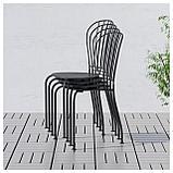 ЛЭККЭ Стол+2стула,д/сада, серый, фото 3