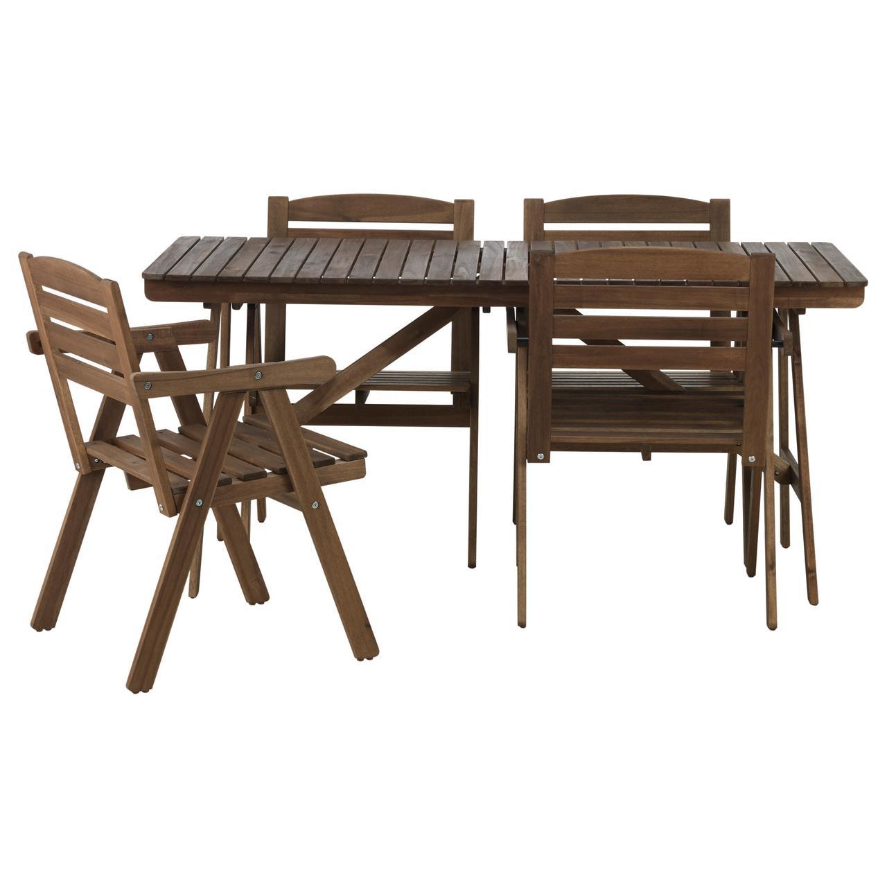 ФАЛЬХОЛЬМЕН, Стол+4 кресла, д/сада