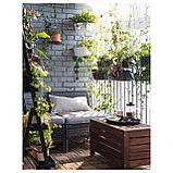 ЭПЛАРО Садовая скамья с ящиком, коричневая морилка, фото 4