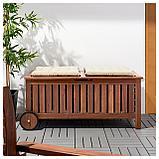 ЭПЛАРО Садовая скамья с ящиком, коричневая морилка, фото 3