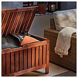 ЭПЛАРО Садовая скамья с ящиком, коричневая морилка, фото 5