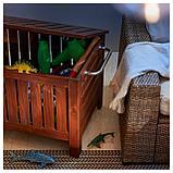ЭПЛАРО Садовая скамья с ящиком, коричневая морилка, фото 6