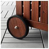 ЭПЛАРО Садовая скамья с ящиком, коричневая морилка, фото 8