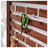 ЭПЛАРО Настенная панель+2 полки, коричневая морилка, фото 3