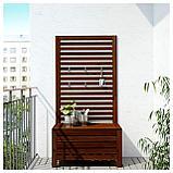 ЭПЛАРО Садовая скамья+панель, коричневая морилка, фото 2