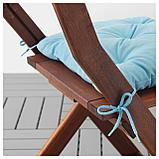 КУДДАРНА Подушка на садовый стул, голубой, фото 3