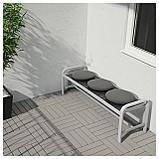 ФРЁСЁН/ДУВХОЛЬМЕН Подушка на садовый стул, темно-серый, фото 2