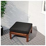 ХОЛЛО Подушка на сиденье,д/садовой мебели, черный, фото 2