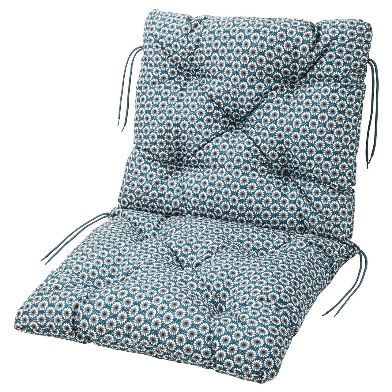 ИТТЕРОН Подушка на садовую мебель, синий
