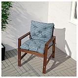 ИТТЕРОН Подушка на садовую мебель, синий, фото 2