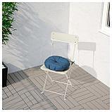 ИТТЕРОН Подушка на садовый стул, синий, фото 2