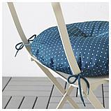 ИТТЕРОН Подушка на садовый стул, синий, фото 3