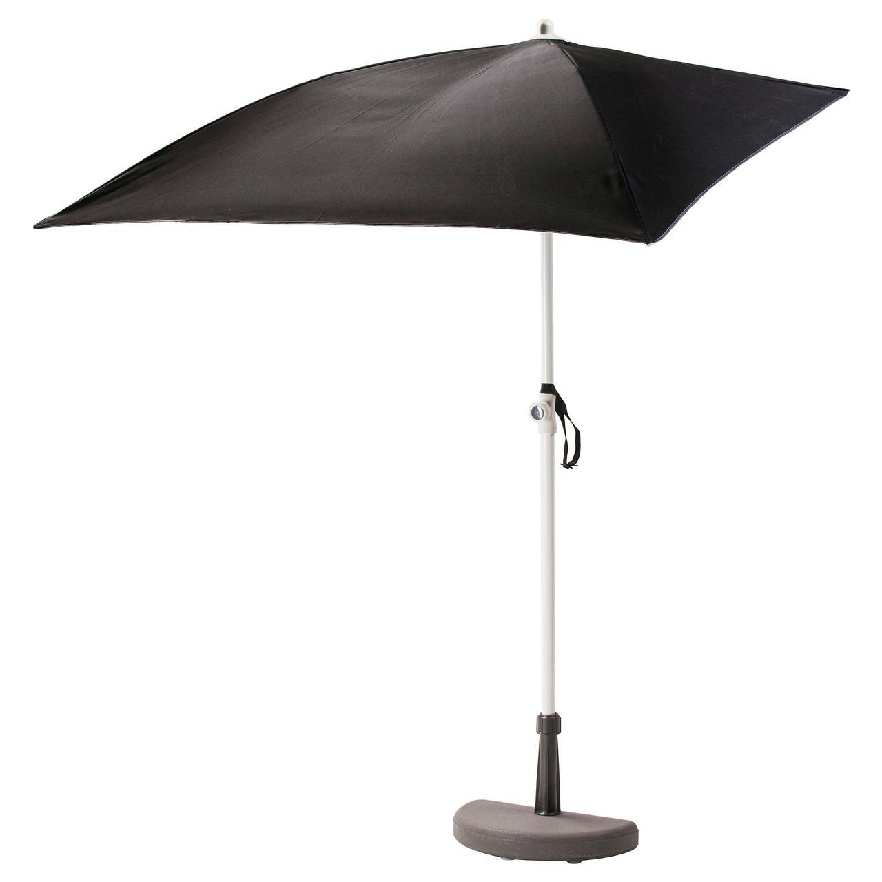 БРАМСОН / ФЛИСО Зонт от солнца с опорой, черный
