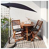 БРАМСОН / ФЛИСО Зонт от солнца с опорой, черный, фото 2