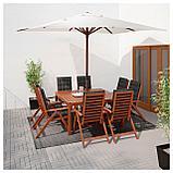 ЛОНГХОЛЬМЕН Зонт от солнца, коричневый, бежевый, фото 2