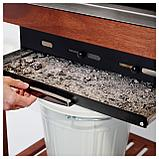 ЭПЛАРО / КЛАСЕН Угольн гриль+тележка/модуль д/хран, коричневая морилка, цвет нержавеющей стали, фото 8