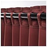 АННАКАЙСА Гардины, блокирующие свет, 1 пара, коричнево-красный, фото 4