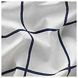 РОЗАЛИЛЛ Гардины, 1 пара, белый/синий, фото 2