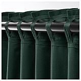 САНЕЛА Гардины, 1 пара, темно-зеленый, фото 4