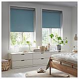 ТРЕТУР Рулонная штора, блокирующая свет, голубой, фото 2