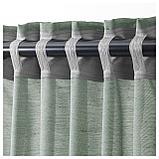 ХИЛЬЯ Гардины, 1 пара, серо-зеленый, фото 5