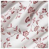 ХЭССЛЕКЛОККА Гардины, 1 пара, белый белый/красный, розовый, фото 2