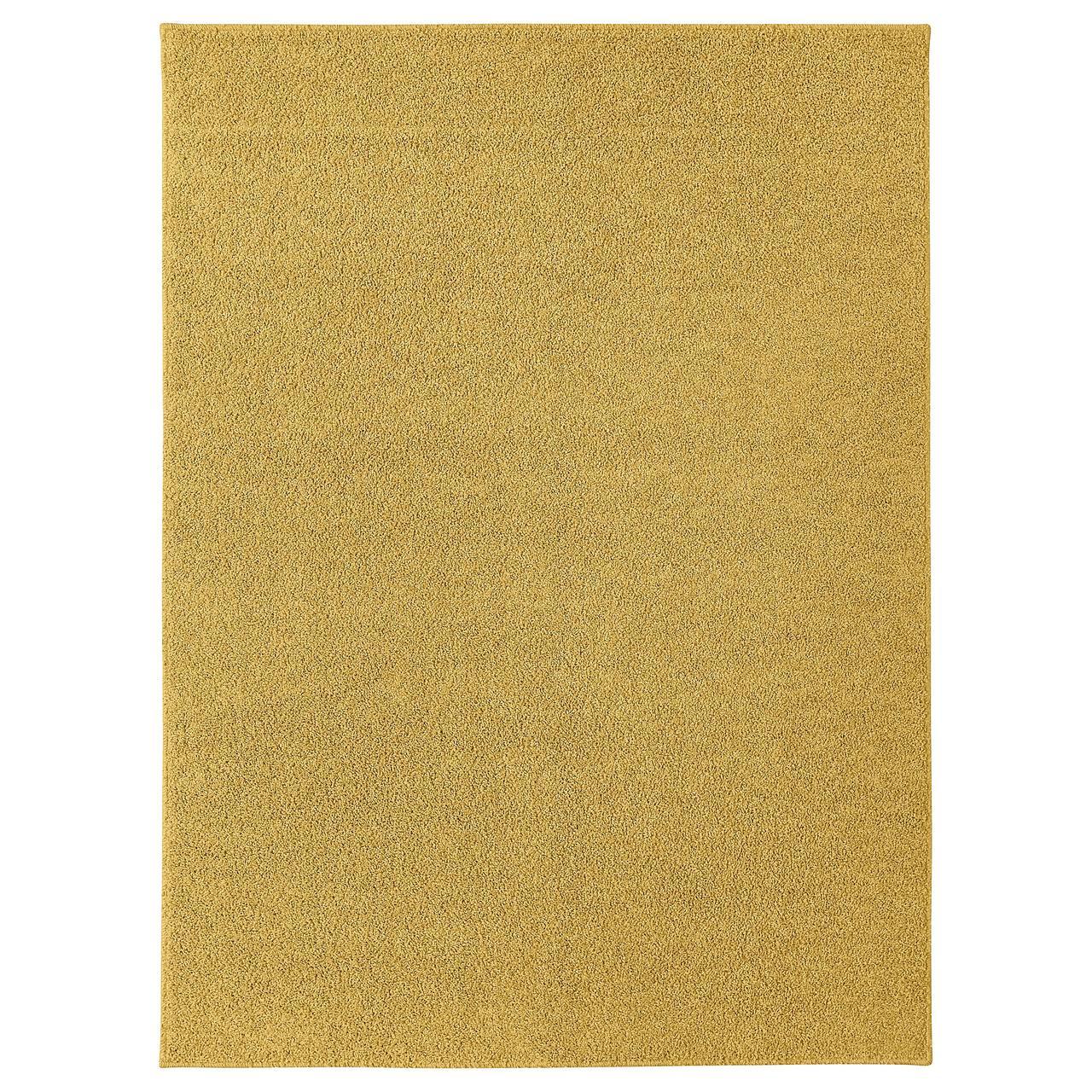 АЛЛЕРСЛЕВ Ковер, длинный ворс, желто-коричневый