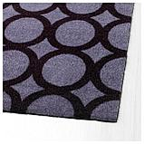 МЕЙЛС Придверный коврик, орнамент-круги серый/черный, фото 3