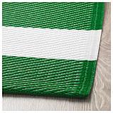 СОММАР 2019 Ковер безворсовый, зеленый/белый д/дома/улицы, зеленый/белый, фото 3