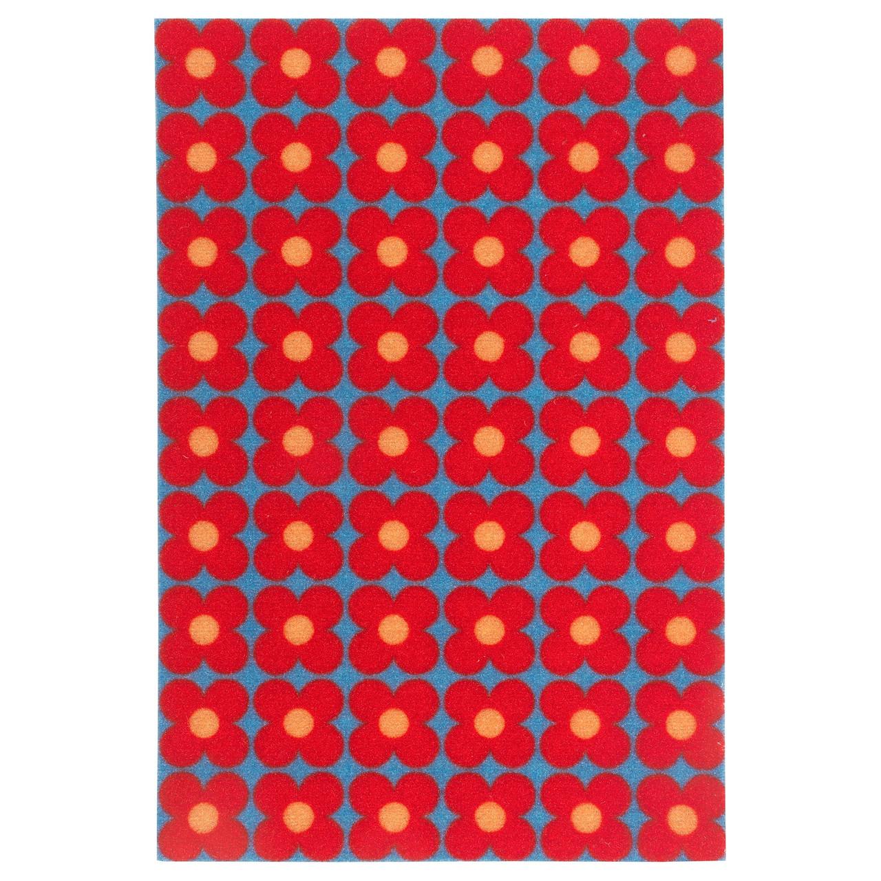 СОММАР 2019 Придверный коврик, маленькие цветы синий, красный