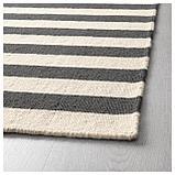 СТОКГОЛЬМ 2017 Ковер безворсовый, ручная работа в полоску, в полоску белый серый, фото 2