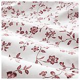 ХЭССЛЕКЛОККА Пододеяльник и 1 наволочка, белый, розовый, фото 2