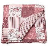 ВОРРЮТА Покрывало, белый, розовый, фото 4