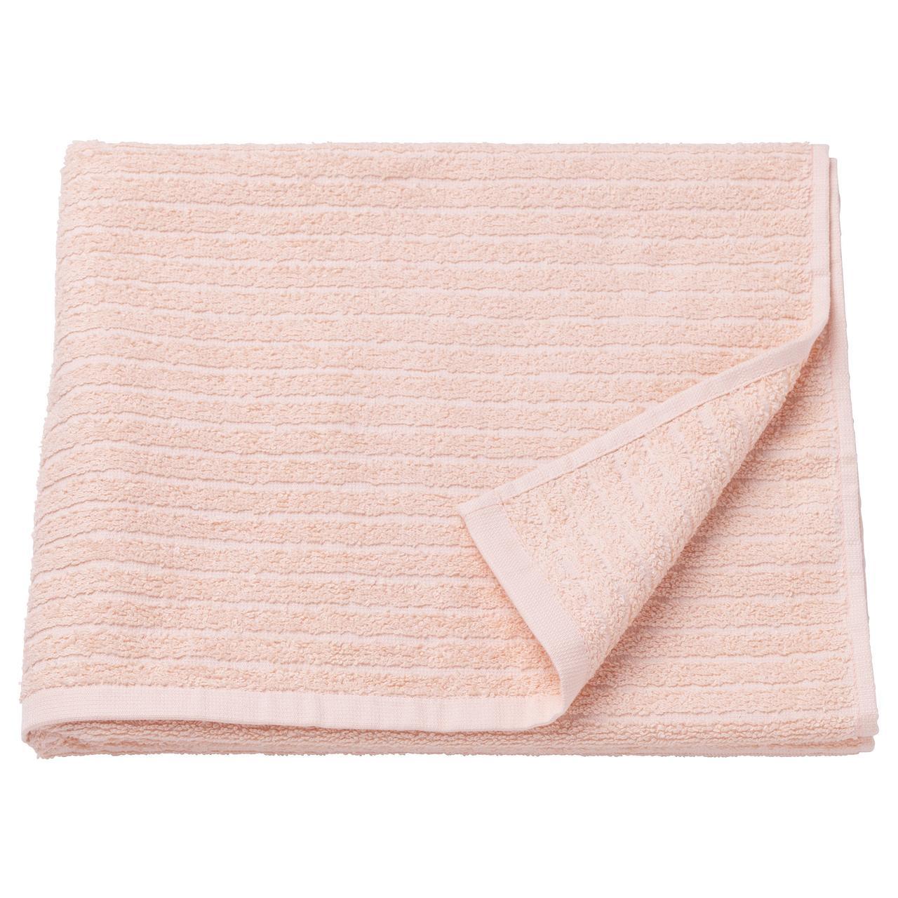 ВОГШЁН Банное полотенце, бледно-розовый