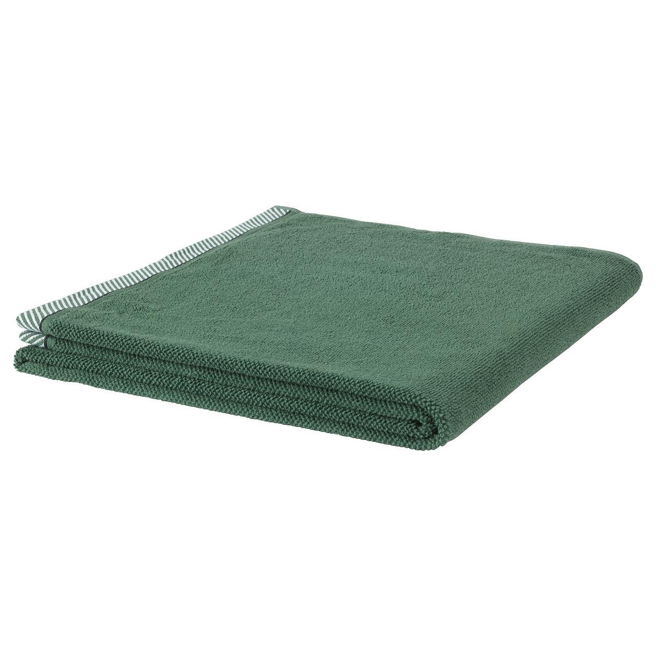 ВИКФЬЕРД Банное полотенце, зеленый