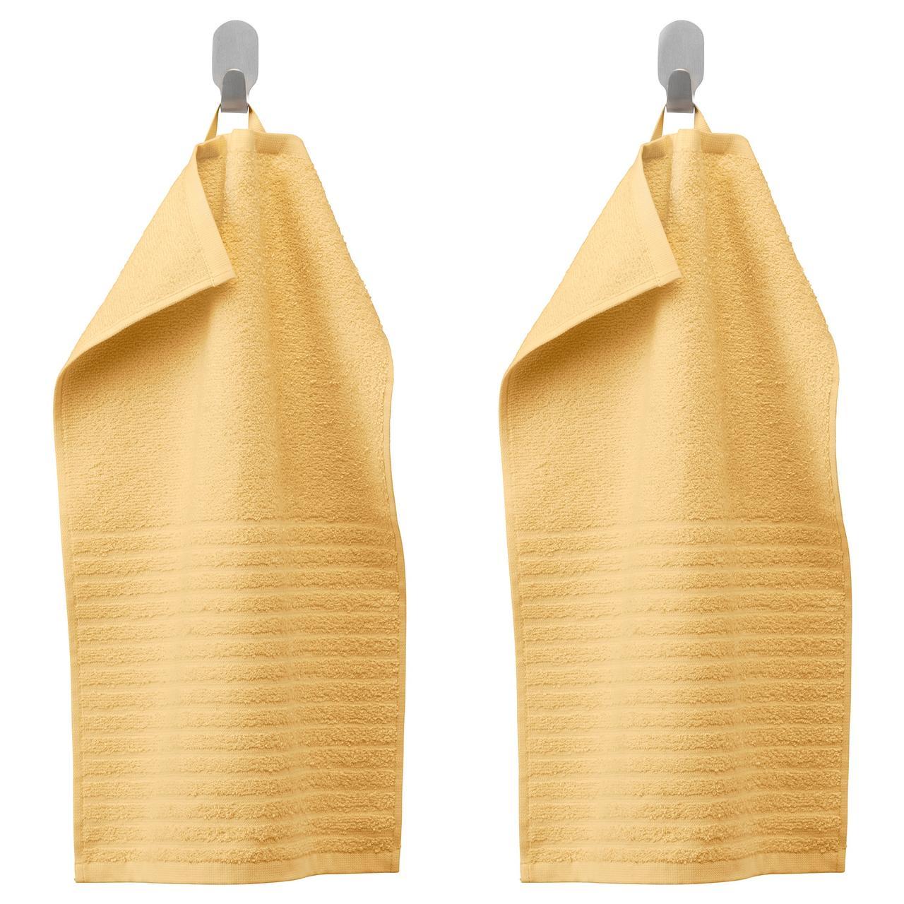 ВОГШЁН Полотенце, светло-желтый