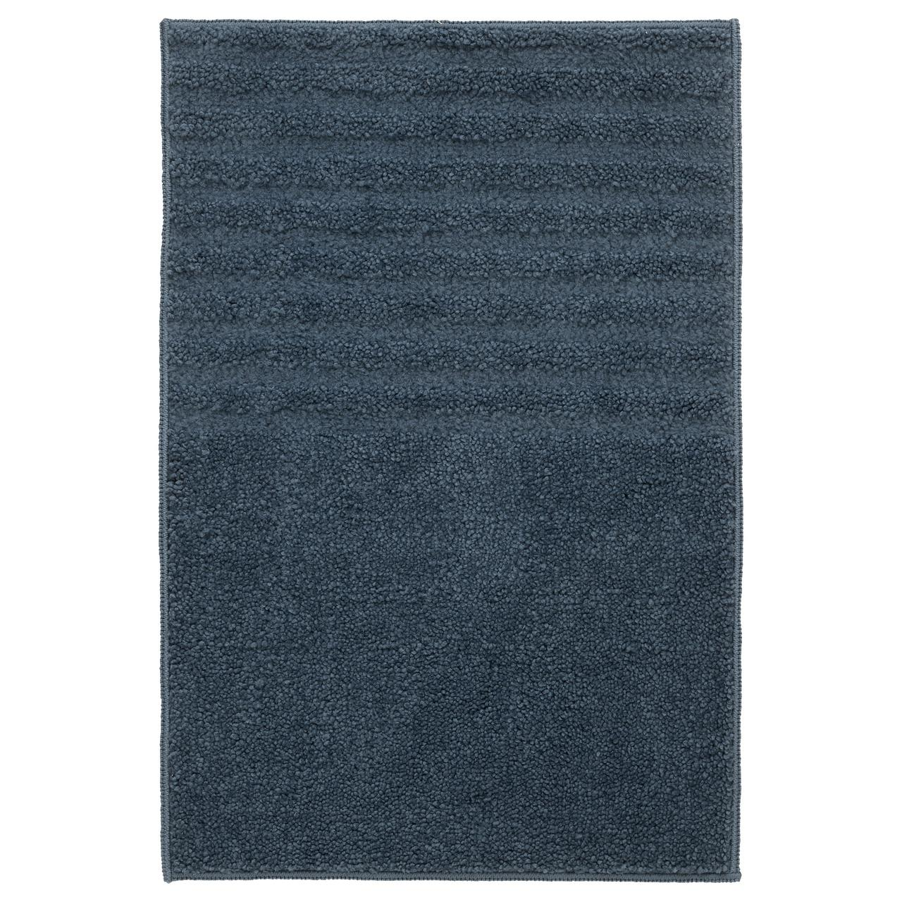 ВОКСШЁН Коврик для ванной, темно-синий