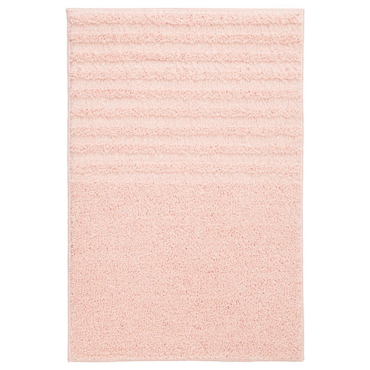 ВОКСШЁН Коврик для ванной, бледно-розовый