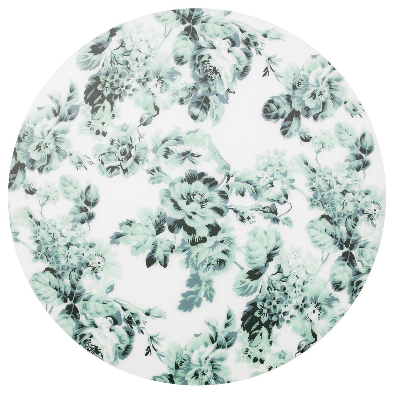 СМАКСИННЕ Салфетка под приборы, бел/зелен, цветок