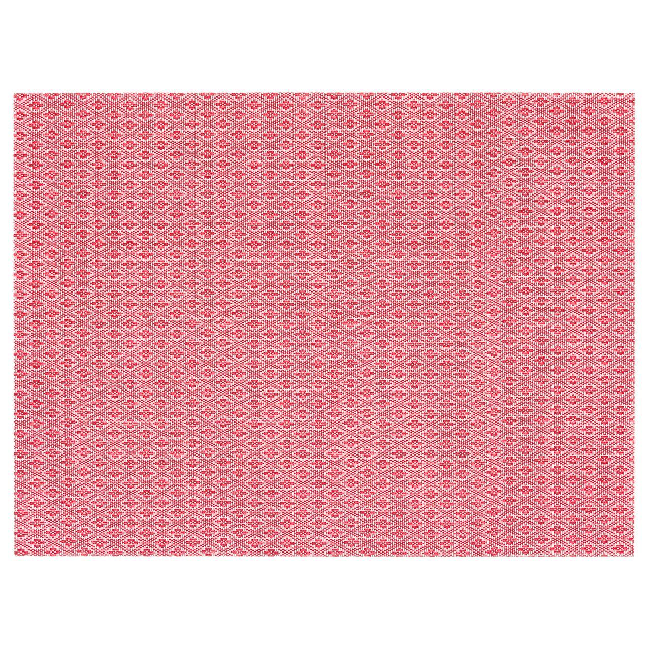 ГАЛЛЬРА Салфетка под приборы, красный, с рисунком