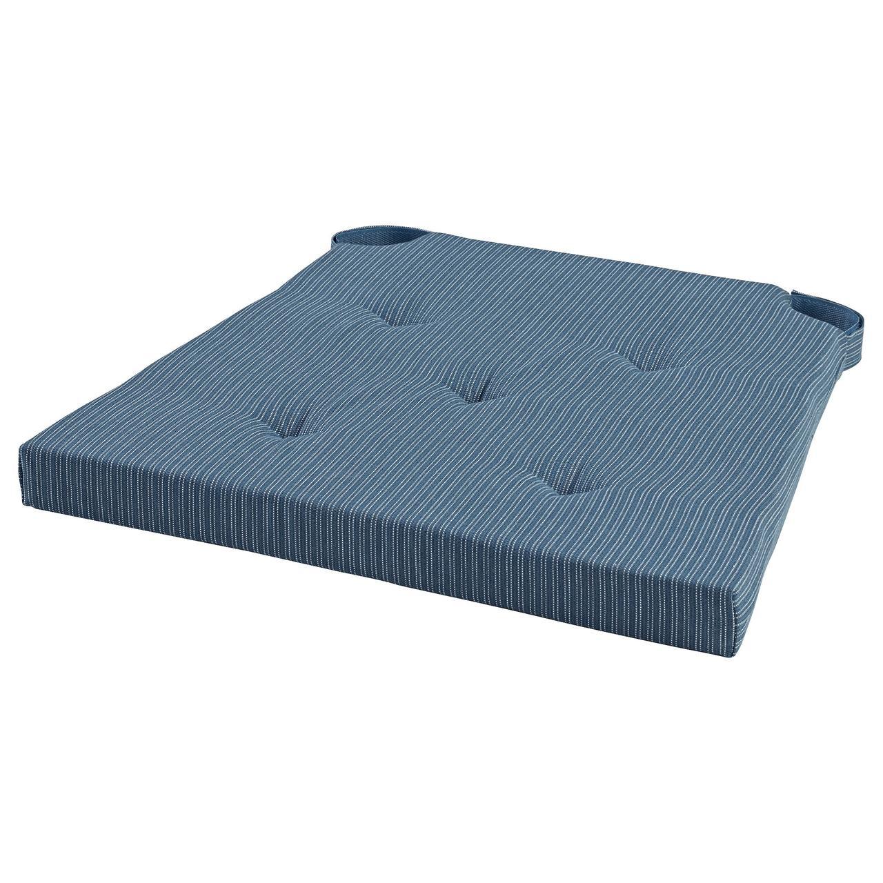 ЮСТИНА Подушка на стул, темно-синий