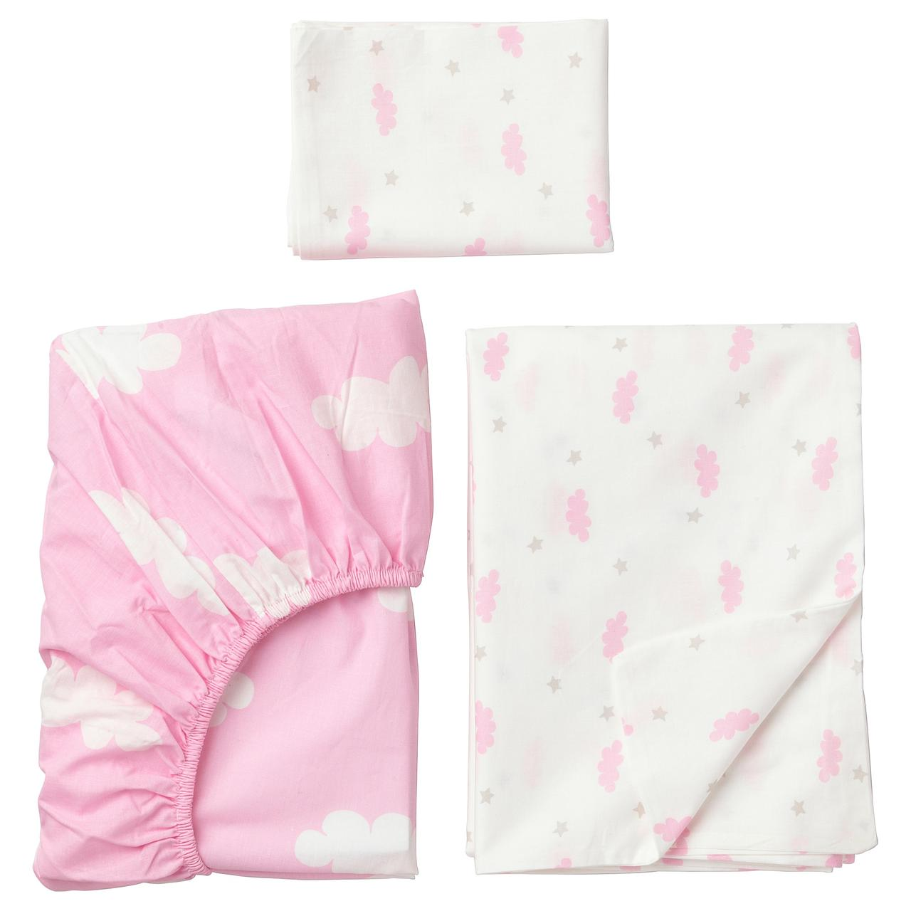 ХИММЕЛЬСК Комплект постельного белья, 3 предм, розовый