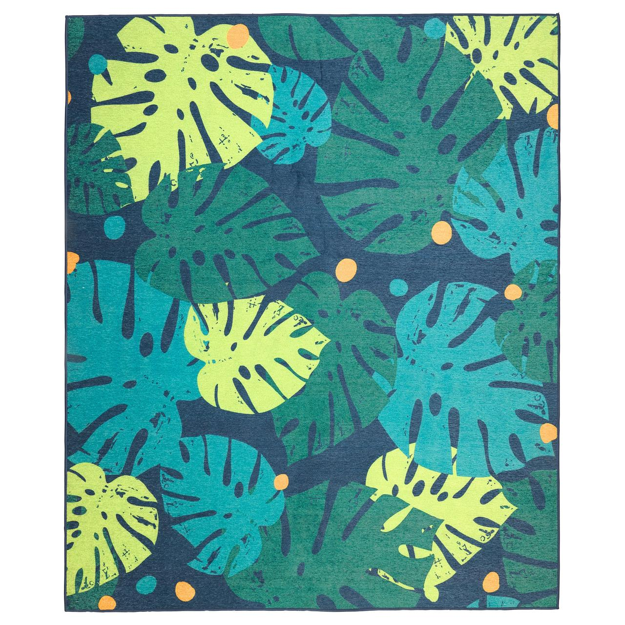 УРСКОГ Ковер безворсовый, лист, зеленый